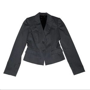 Eli Tahari Virgin Wool Two Button Pointed Lapel